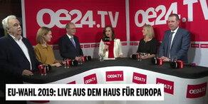 Nach EU-Wahl: Elefantenrunde auf oe24.TV