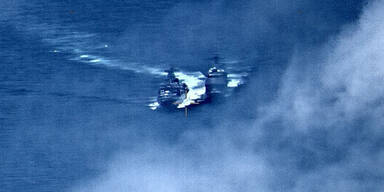 Russischer Zerstörer rammt fast ein US-Militärschiff