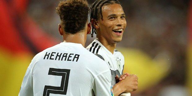EM-Quali: Deutschland überrollt Estland mit 8:0