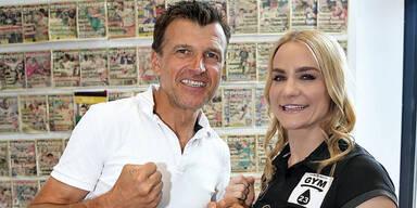 Nicole Wesner mit Reporter Knut Okresek.