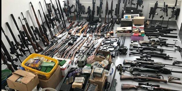 Waldviertler Pensionist bunkerte illegale Schusswaffen