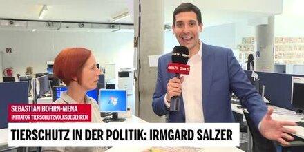 Tierschutz-Politik-Gespräch: Irmgard Salzer