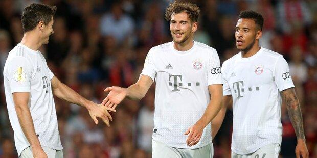 Bayern mühen sich in Cottbus zum 3:1-Sieg