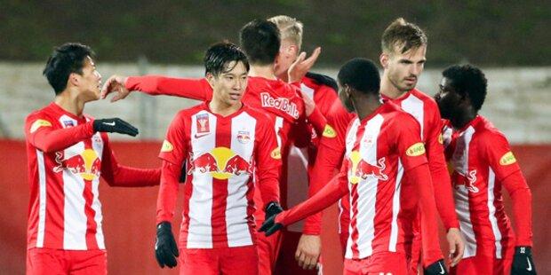 Red Bull Salzburg nach Torgala im Cup-Viertelfinale