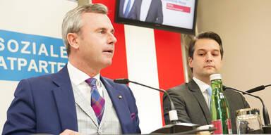 Hofer und Nepp bei pressekonferenz