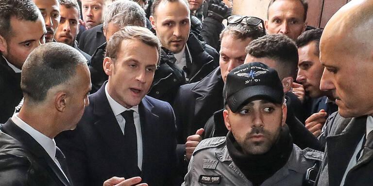 Macron legt sich in Jerusalem mit Polizei an