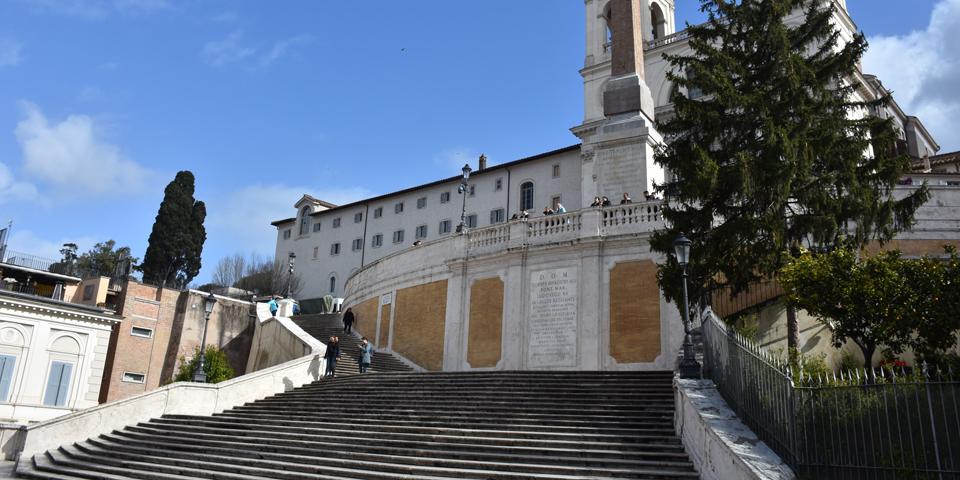 Spanische Treppe Rom Coronavirus