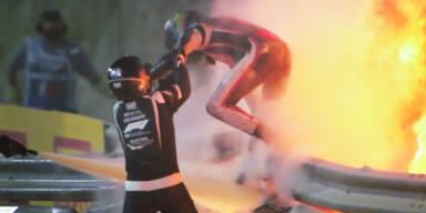 GP von Bahrain: So konnte Grosjean den Horror-Crash überleben