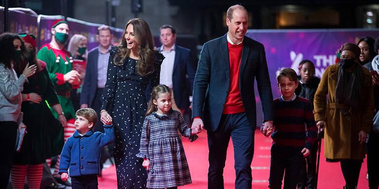 William & Kate: Erster Red-Carpet-Auftritt mit allen drei Kindern