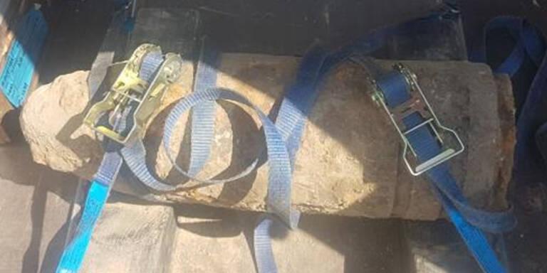 140-Kilo-Granate in Wien-Liesing gefunden