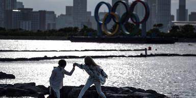 Olympisiche Ringe in Tokio