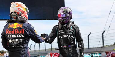 Lewis Hamilton und Max Verstappen
