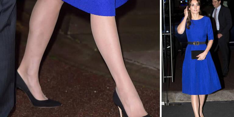 Kate, warum immer diese Glanzstrümpfe?