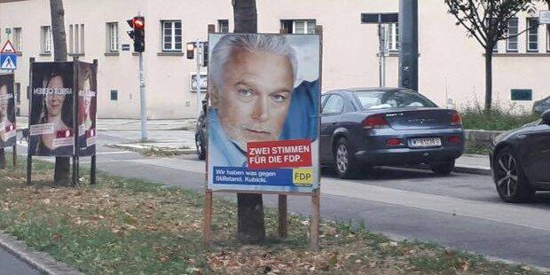 Rätsel um deutsche Wahlplakate in Wien gelöst
