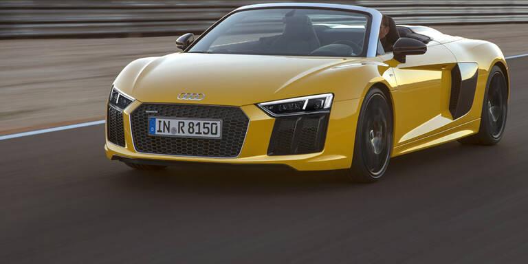 Audi greift mit dem neuen R8 Spyder an