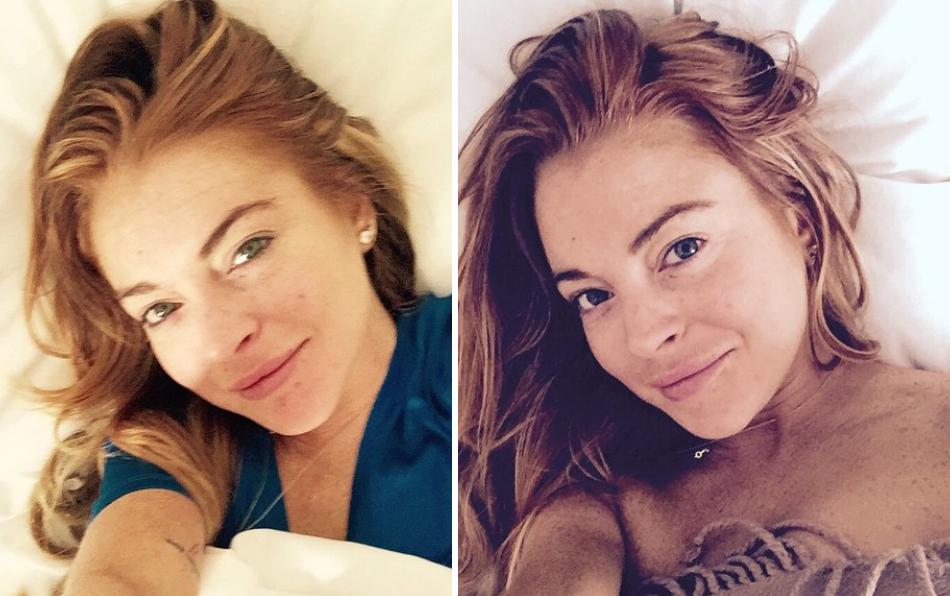 Lindsay zeigt sich ohne Make-Up