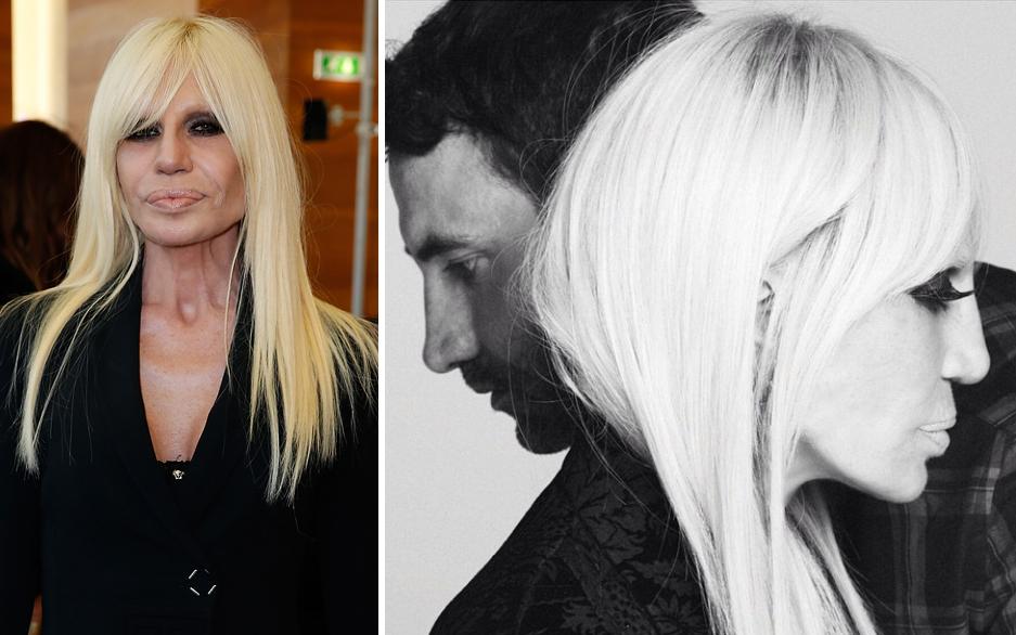 Donatella Versace wirbt fremd