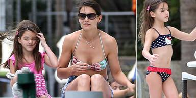 Katie Holmes im Badeurlaub mit Tochter Suri