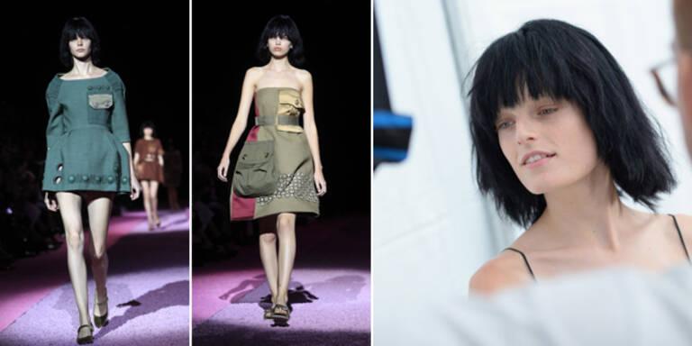 Ungeschminkte Models auf dem Catwalk