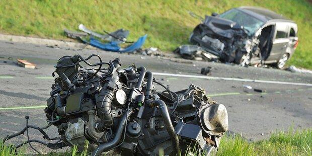 Horror-Crash fordert eine Tote und drei Verletzte