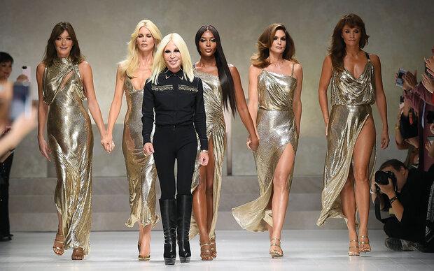 Supermodel-Comeback bei Versace