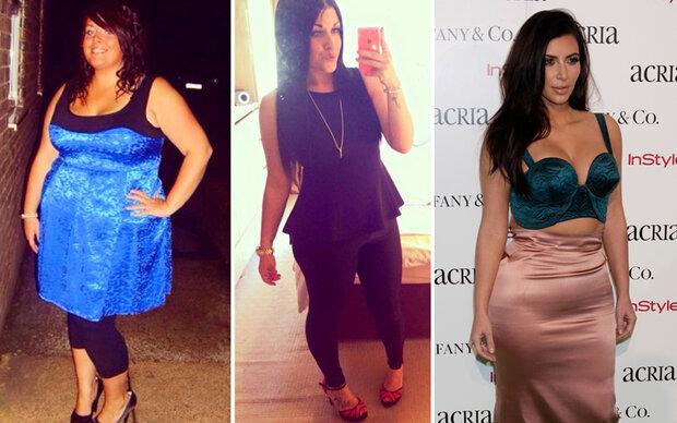 Für den Kim-Look nahm sie 50 Kilo ab