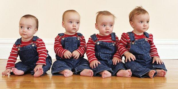 Frau bekam vier Babys in elf Monaten