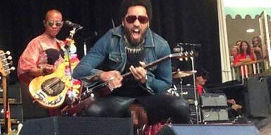 Lenny Kravitz: Penis-Panne auf Bühne