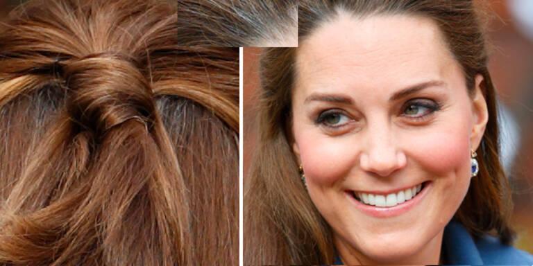 Herzogin Kate zeigt erste graue Haare