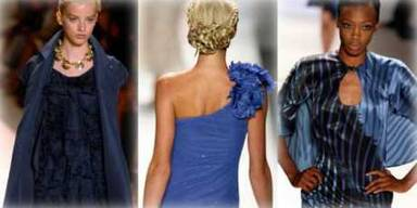 Im Frühling machen die Designer Blau