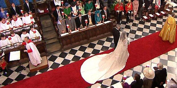 Bewegte Kate: Ihr romantischer Gang zum Traualtar