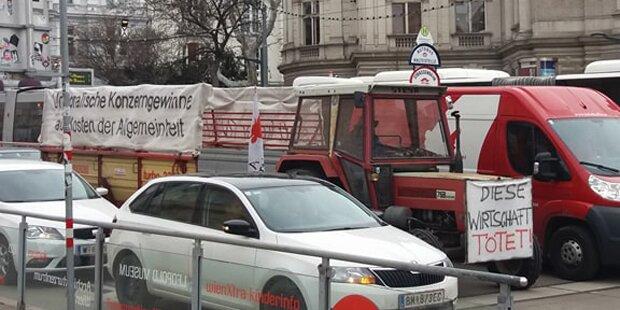 Traktor-Demo legt heute Wiener City lahm