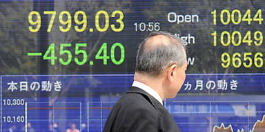 Nikkei verliert sechs Prozent