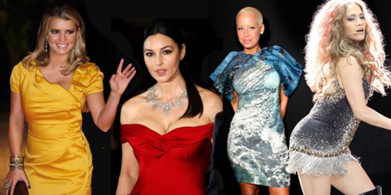 Jessica Simpson, Amber Rose, Jennifer Lopez, Monica Bellucci