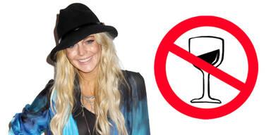 Lindsay Lohan - Alkoholverbot