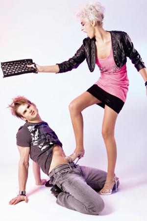 2 MADONNA Models in rockiger Mode von Philipp Plein