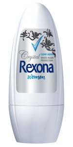 2 Rexona Women Crystal Clear Aqua Roll-On