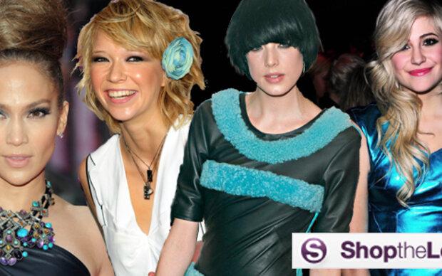 Schmuck und Mode in Türkis