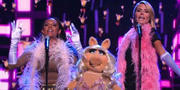 Klum singt mit Miss Piggy & Mel B