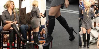Shakira in Plateau-Leder-Overknees
