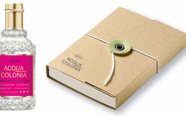 Gewinnen Sie ein  Eau de Cologne plus Notizbuch.