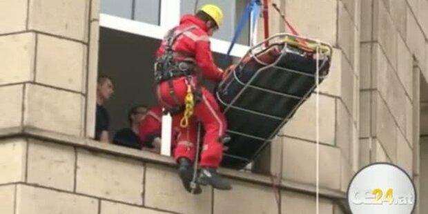 220 Kilo schwere Frau - Höhenrettung
