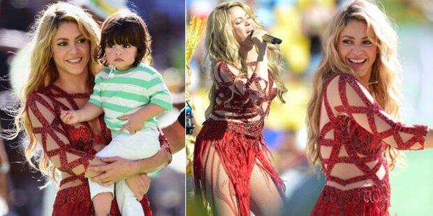 Shakira, ist das etwa ein Babybäuchlein?
