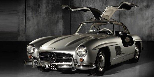 Mercedes-Flügeltürer in Wien für 1,5 Mio. Euro versteigert