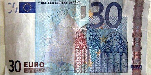 Mann zahlte mit diesem 30-Euro-Schein