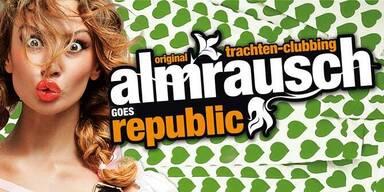 """""""Alles für den Gast"""" Almrausch-Clubbing im Rebuplic"""