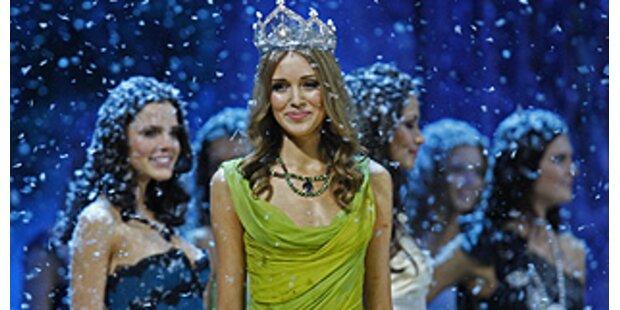 Wahl der Miss Russland im Schneegestöber