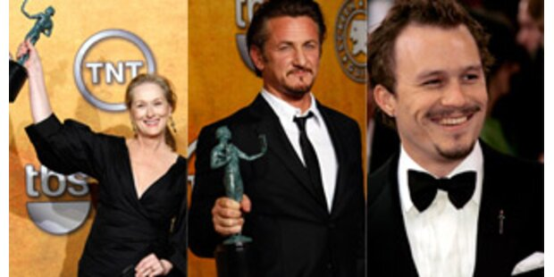 Gewonnen: Streep, Penn, Ledger