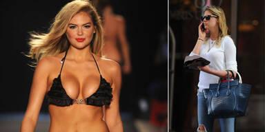 Kate Upton: sexy trotz Alltagskleidung