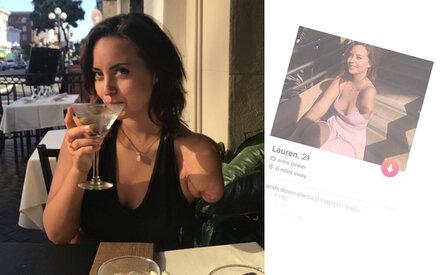 Frau mit einem Arm erobert Tinder mit witzigem Profil